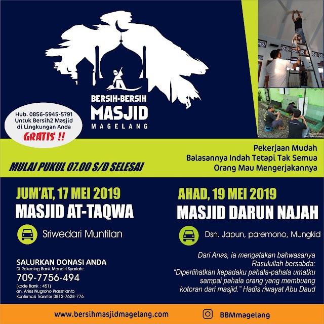 Bergabunglah dalam Kegiatan Bersih-Bersih Masjid Darunnajah Japun Japun Satu, Paremono, Mungkid, Kabupaten Magelang