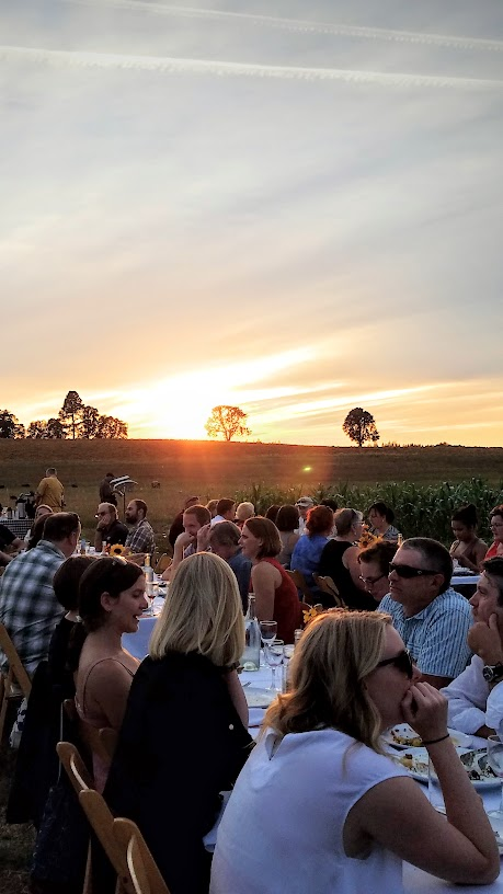 Plate and Pitchfork Farm Dinner, bringing farm to table dinners during the summer in Portland where guests dine al fresco on farms.