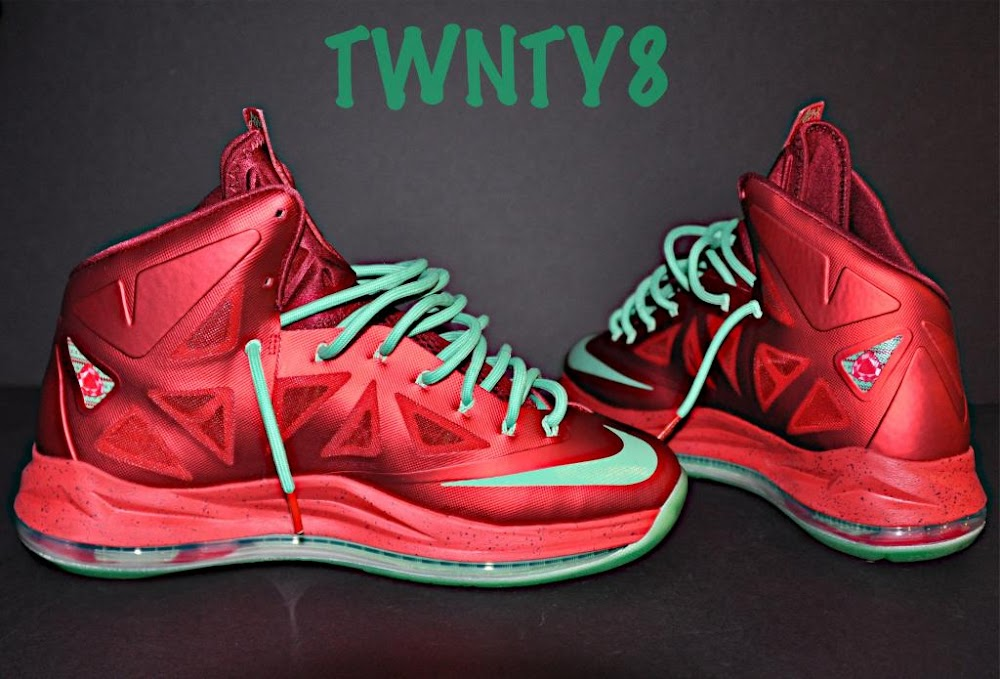 ... Detailed Look at the Nike LeBron X Christmas Ruby Edition ... 4def26a4b9e0