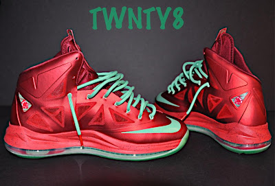 nike lebron 10 gr christmas ruby 3 03 Detailed Look at the Nike LeBron X Christmas / Ruby Edition
