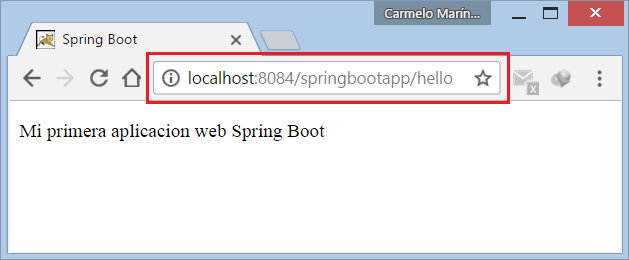 Spring boot archivo war