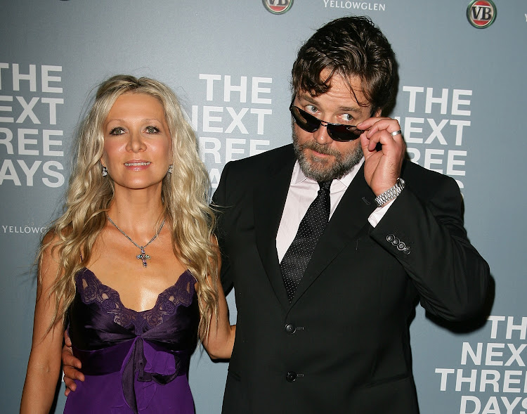 Danielle Spencer and Russell Crowe arrive at the 'The Next Three Days' Australian premiere on January 30 2011 in Sydney, Australia.