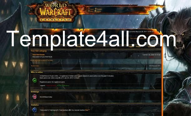 world of warcraft forum phpbb template