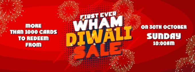 (Live at 10 AM) Wham Diwali Sale - Grab More than 1000 Gifts & GV's
