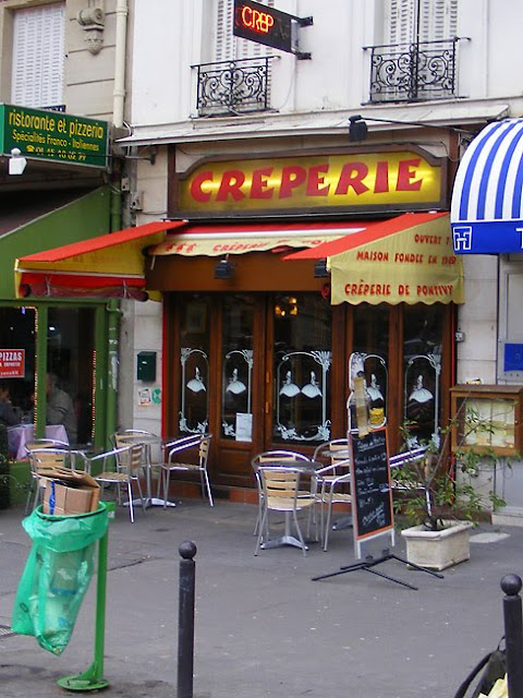 Creperie, Montparnasse, Paris, France. Photo by Loire Valley Time Travel.