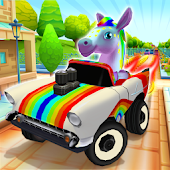 Pony Craft Unicorn Car Racing - Pony Care Girls