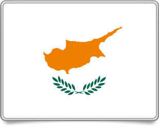 Cypriot framed flag icons with box shadow