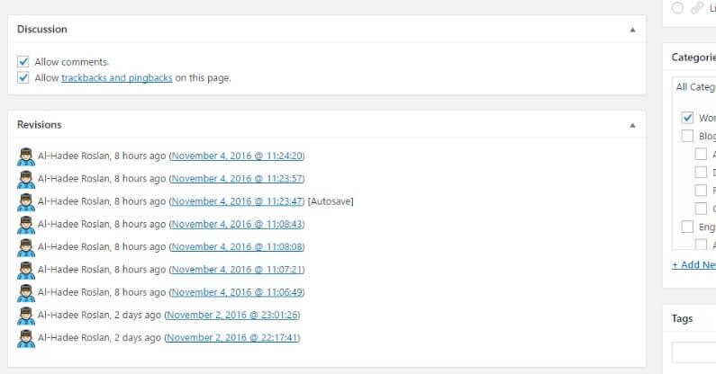 WordPress Post Revisions Tanpa Had