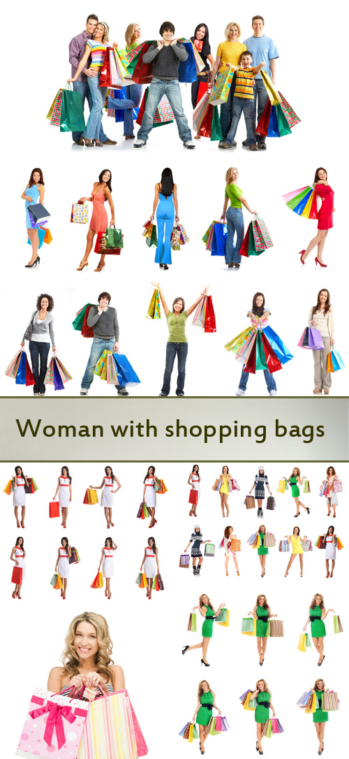 Stock Photo: Woman with shopping bags