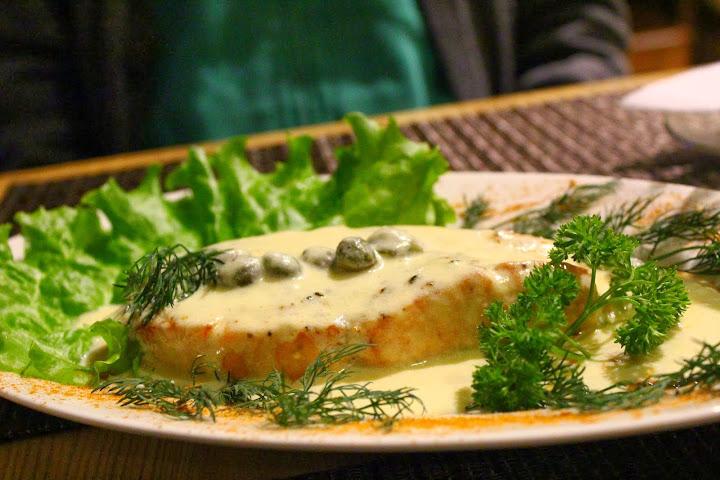 Kafe 16, Irkutsk, Salmon in cheese sauce