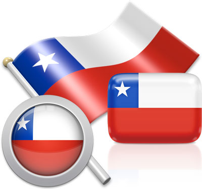 Chilean flag icons pictures collection