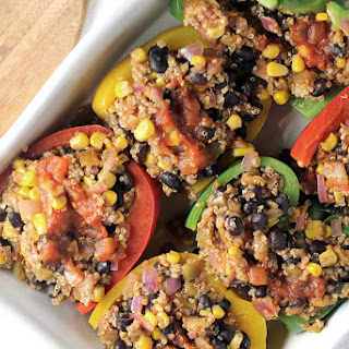 Quinoa Fajita Stuffed Peppers.