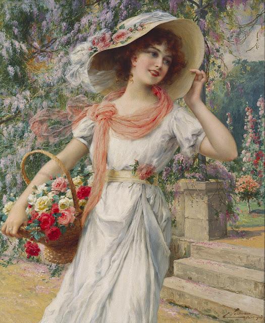 Emile Vernon - The Flower Girl.