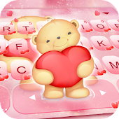 Pink Bear Keyboard Theme