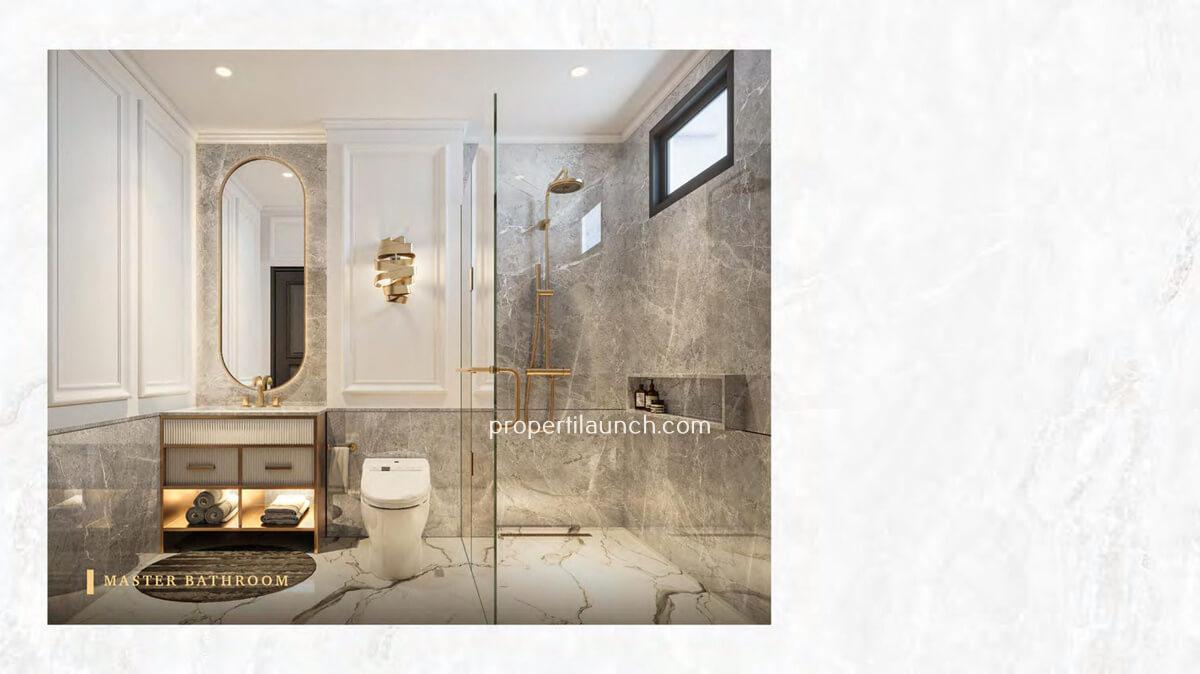 Master Bathroom Rumah Bukit Podomoro Jakarta Tipe 7 Art Deco