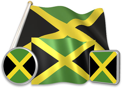 Jamaican flag animated gif collection