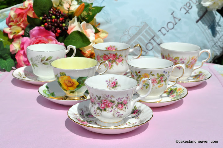 six teacups & saucers