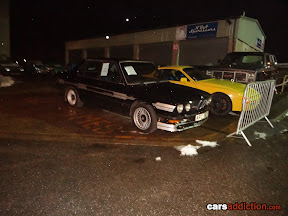 Classic BMW Alpina outside the studio