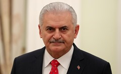 Prime Minister of Turkey Binali Yildirim at Kremlin.