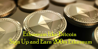 Signup and earn 10$ Free Ethereum offer and Refer and earn more 10$ Ethereum