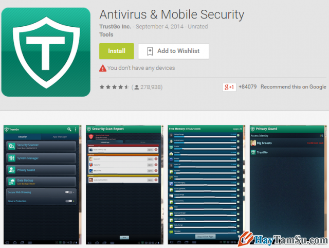 Ứng dụng Antivirus & Mobile Security