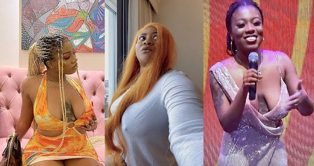 Nkechi Blessing Goes Br@less To Defend BBNaija's Angel After She Was Shamed For The Shape Of Her B00bs