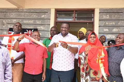 H.E Mvurya opening ECDE at kinango. PHOTO | BMS