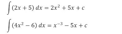 contoh sederhana integral tak tentu 1