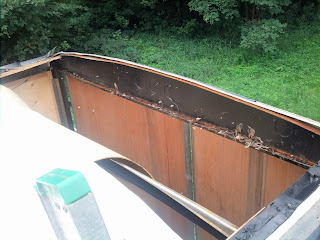 After removing the section of roof that had to go.