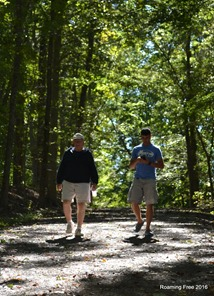 Nick & Grandpa enjoying the beautiful day