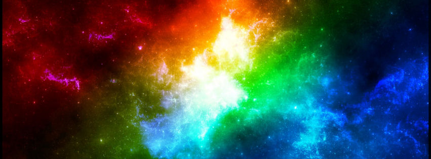 Colours in space facebook cover