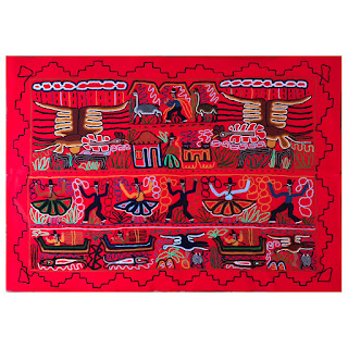 Peruvian Hand-Embroidered Tapestry