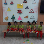 TRIANGLE DAY CELEBRATION BY PLAYGROUP SECTION (2017-18) AT WITTY WORLD, BANGUR NAGAR