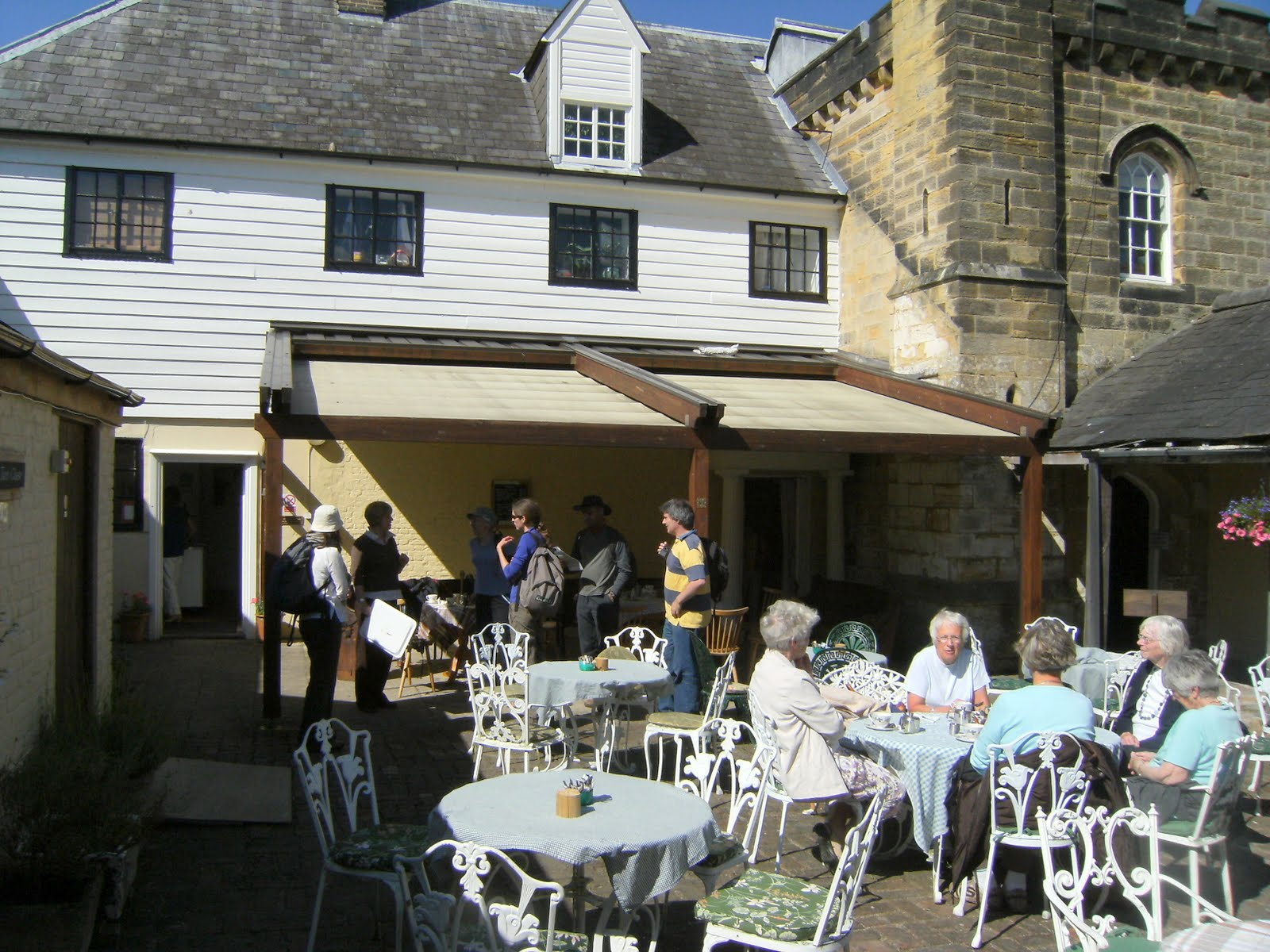 1006160025 Courtyard tearoom at Chiddingstone Castle