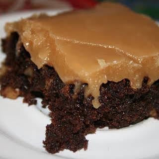 Old Fashioned Boiled Peanut Butter Icing.