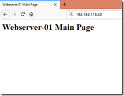 Webserver-01 Main Page Through Load Balancer