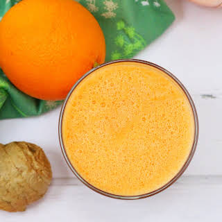 Orange Smoothie with Carrot and Ginger.