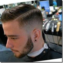 Side part haircut pompadour men