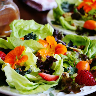 Spring on a Plate Salad with Honey Vinaigrette