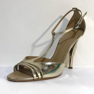 Proenza Schouler Metallic Ankle Strap Pumps