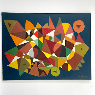Martin Rosenthal Geometric Abstract Painting