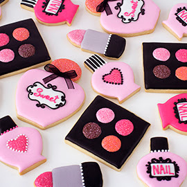 Galletas decoradas de maquillaje