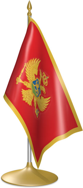 Montenegrin table flags - desk flags