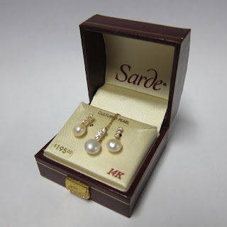 14 Kt. Gold & Cultured Pearl Necklace & Earring Set