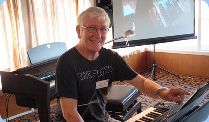 A rare performance at the Club by 'El Presidente' Gordon Sutherland playing his brand new model Korg Pa4X. Photo courtesy of Dennis Lyons.