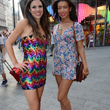 WWW.ENTSIMAGES.COM -  Zoe Griffin and Rikaya Tagoe    at       Itsie Bitsie - fashion show at The Penthouse, 1 Leicester Square, London July 17th 2013                                                  Photo Mobis Photos/OIC 0203 174 1069