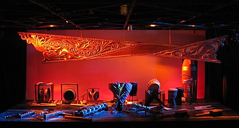 exhibit of traditional Asian instruments at the Cultural Center of the Philippines