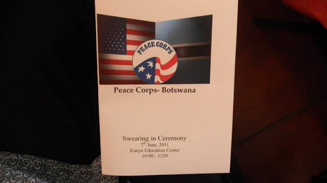 Our swearing in ceremony program