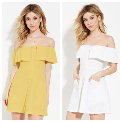Reformation Botanica vs Forever 21 Off the Shoulder Mini Dress F21Finds