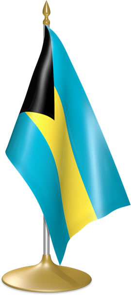 Bahamian table flags - desk flags